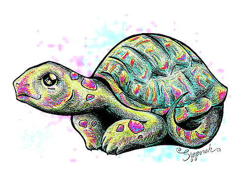 Adorable Tortoise I by Sipporah Art and Illustration