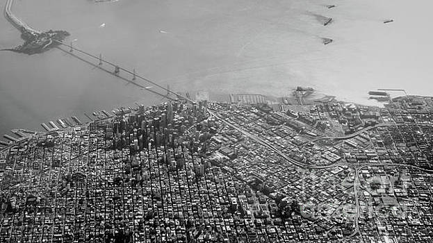 Aerial View of Downtown San Francisco from the Air by PorqueNo Studios