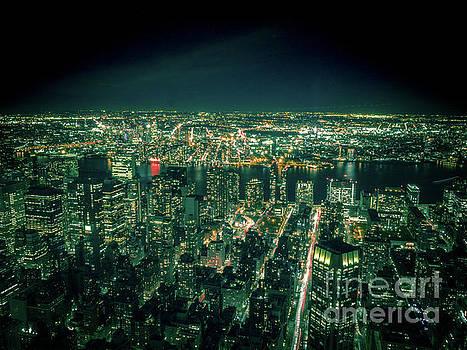 Aerial View of Manhattan Skyline  by PorqueNo Studios