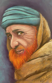 Afghan Man with a Red Beard by Melinda Saminski
