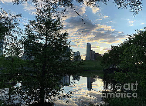 Felipe Adan Lerma - After a Spring Rain Austin Sunrise Skyline From Butler Park
