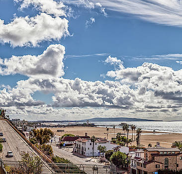 After the rain - Santa Monica - Panorama by Gene Parks