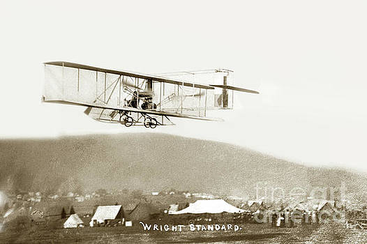 California Views Archives Mr Pat Hathaway Archives - Air plane Wright standard in flight Circa 1910