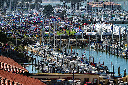 Air Show Crowd Marina Yacht Club by Bonnie Follett