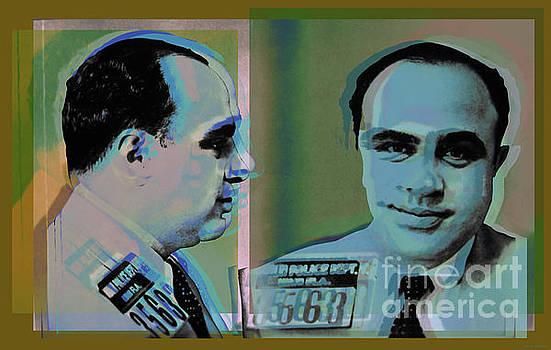 Al Capone mugshot Pop Art Warhol style by Jean luc Comperat