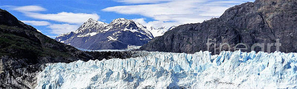 Alaska Mountains and Glaciers Panorama by Eloise Schneider Mote