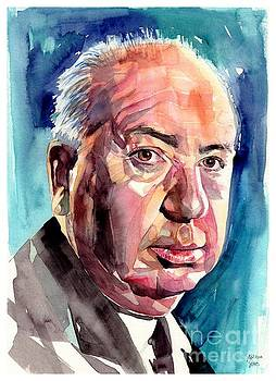 Alfred Hitchcock Portrait by Suzann Sines