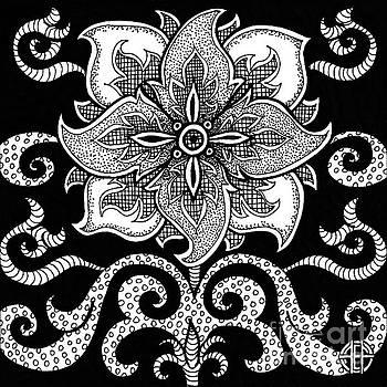 Amy E Fraser - Alien Bloom 11 Black and White