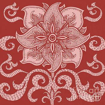 Amy E Fraser - Alien Bloom 11 Cherry Red
