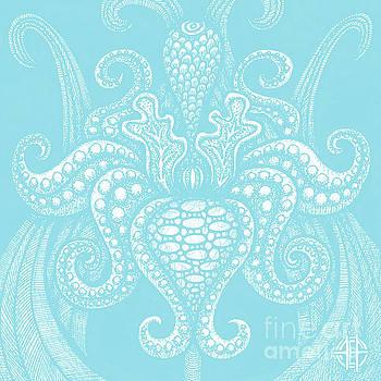 Amy E Fraser - Alien Bloom 13 Airy Blue