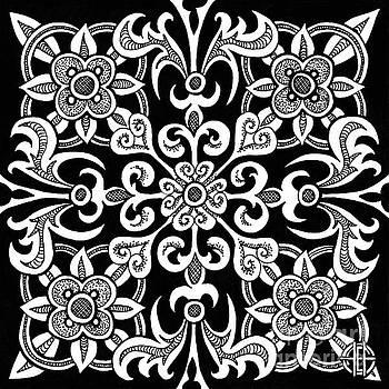 Amy E Fraser - Alien Bloom 14 Black and White