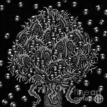 Amy E Fraser - Alien Bloom 15 Black and White