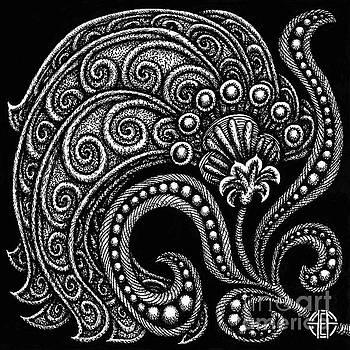 Amy E Fraser - Alien Bloom 16 Black and White