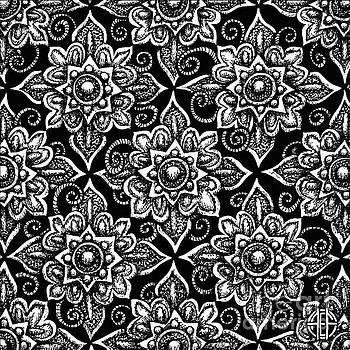 Amy E Fraser - Alien Bloom 19 Black and White