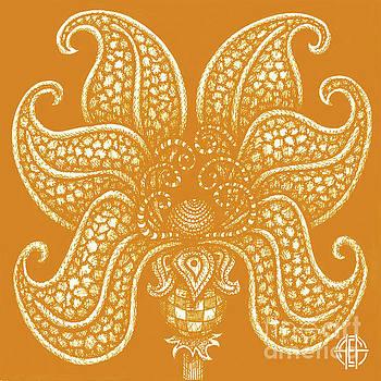 Amy E Fraser - Alien Bloom 20 Sunbird Orange