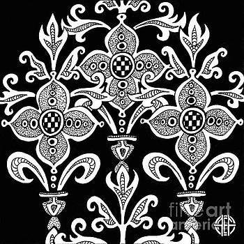 Amy E Fraser - Alien Bloom 21 Black and White