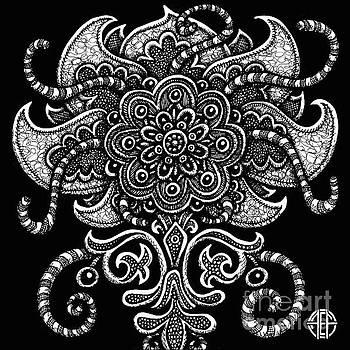 Amy E Fraser - Alien Bloom 22 Black and White