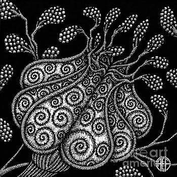 Amy E Fraser - Alien Bloom 25 Black and White