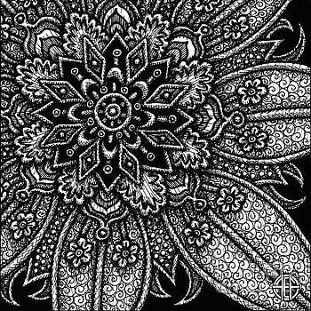 Amy E Fraser - Alien Bloom 27 Black and White