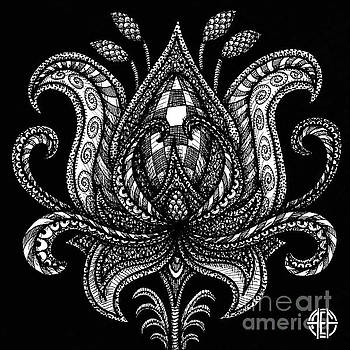 Amy E Fraser - Alien Bloom 28 Black and White