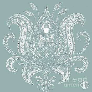 Amy E Fraser - Alien Bloom 28 Watery Green