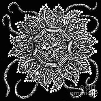 Amy E Fraser - Alien Bloom 30 Black and White