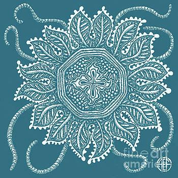 Amy E Fraser - Alien Bloom 30 Sea Creature Blue