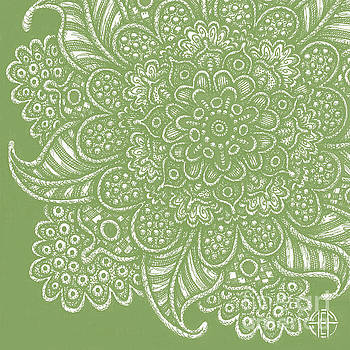 Amy E Fraser - Alien Bloom 7 Soft Fern Green