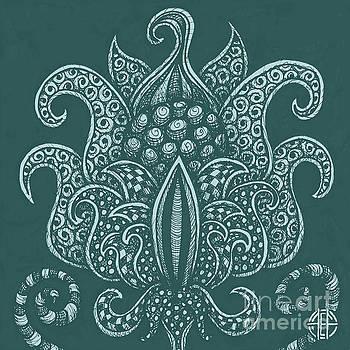 Amy E Fraser - Alien Bloom 8 Deep Aqua