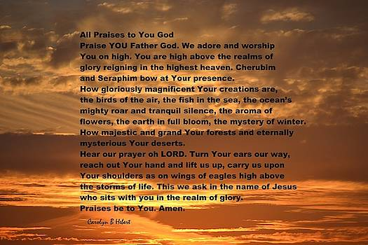 All Praises to You Lord by Carolyn Hebert