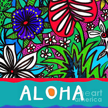 Aloha Card 1 Square Format by A Hillman