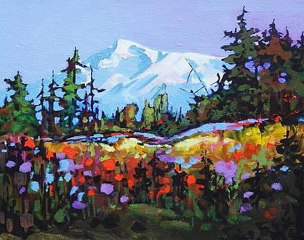 Alpine Meadow, Mt. Rainier, WA by Catherine Robertson