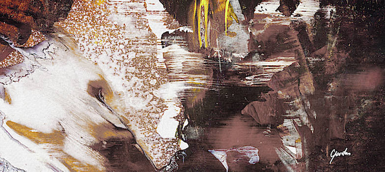 Always On My Mind - Brown Contemporary Abstract Painting by Modern Abstract