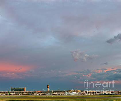 Amazing evening sky over the airport by Viktor Birkus