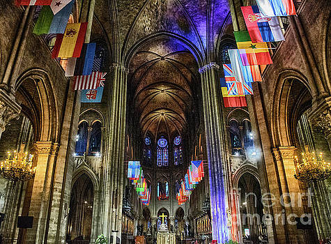 Wayne Moran - Amazing Interior Cathedrale Notre Dame De Paris France Before Fire