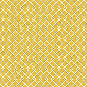 Amber Yellow Diamond Pattern by Ross