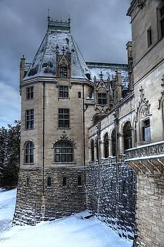 American Castle In Snow by Carol Montoya