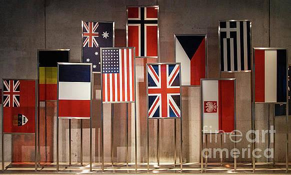 Wayne Moran - American Cemetery and Memorial Omaha Beach Normandy France Wall of Flags