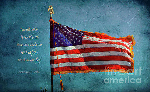 American Flag and Abraham Lincoln by Debby Pueschel