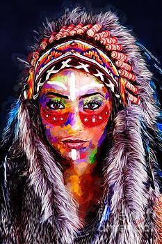 American Indian Woman by Zedi