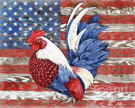 American Rooster A2 by Jean Plout