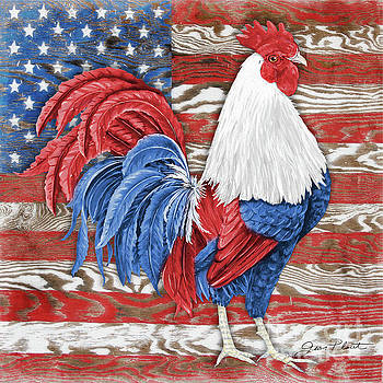 American Rooster B by Jean Plout
