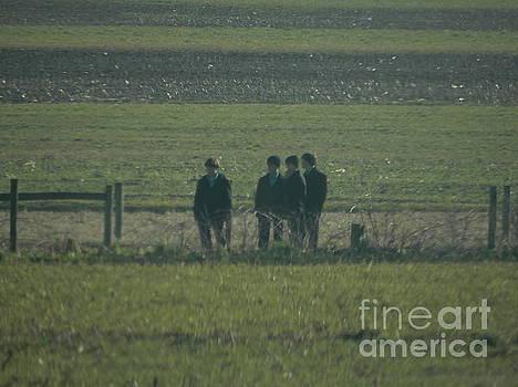 Christine Clark - Amish Boys Gather in a Field