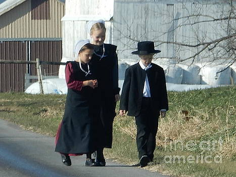 Christine Clark - Amish Siblings Go for an After Church Walk