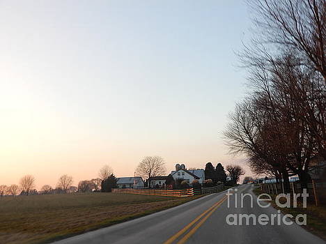 Christine Clark - Amish Winter Homestead Sunset