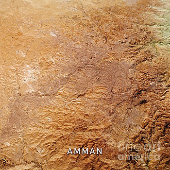 Frank Ramspott - Amman Jordan 3D Render Topo Landscape View From North Oct 2019