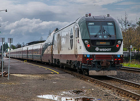 Matthew Irvin - Amtrak Cascades Waiting in Eugene