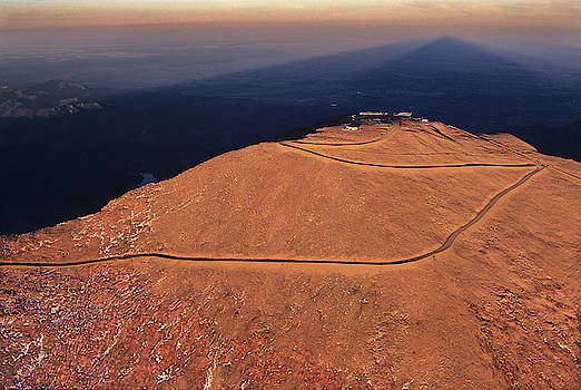 An Aerial Shot Of The World's Most Visited 14000-foot Mountain, Pikes Peak, Colorado by Bijan Pirnia