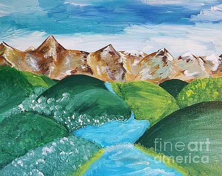 An Alluring Mountain Stream by Ariana Dagan
