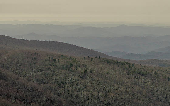 An Ice Storm Rolls in on the Blue Ridge Mountains from the Distance.  by Ryan Hoel
